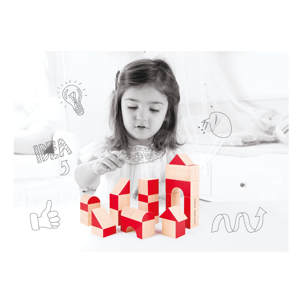 We Care We Share Blokken Hape Speelgoed Mogelijkheden Rood Hape-E0439
