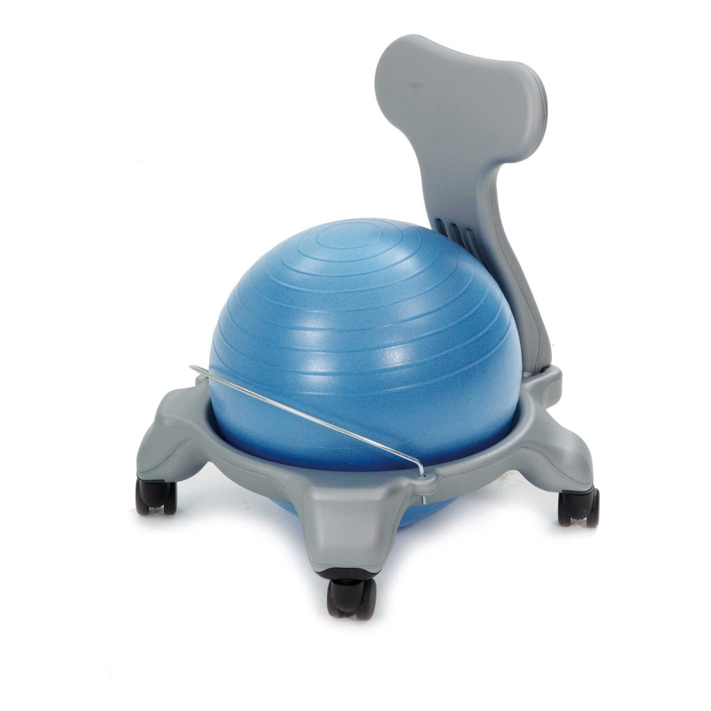 Balstoel Grijs Blauw 38-39 Cm Weplay Gym Bal Verrijbaar Wepl-Ke0312