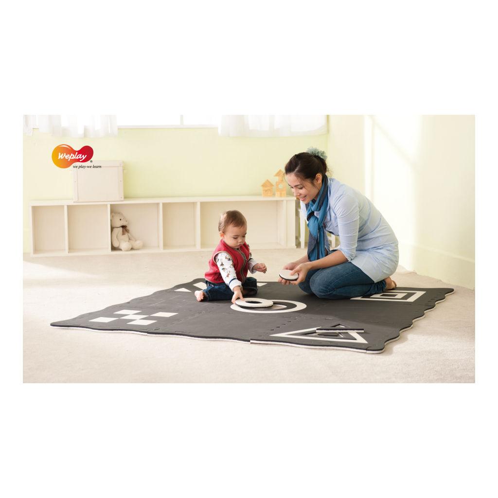 Creatief Speelmat 9-Delig Zwart Wit Weplay BSO Kinderopvang Wepl-Kc1101-0Kw