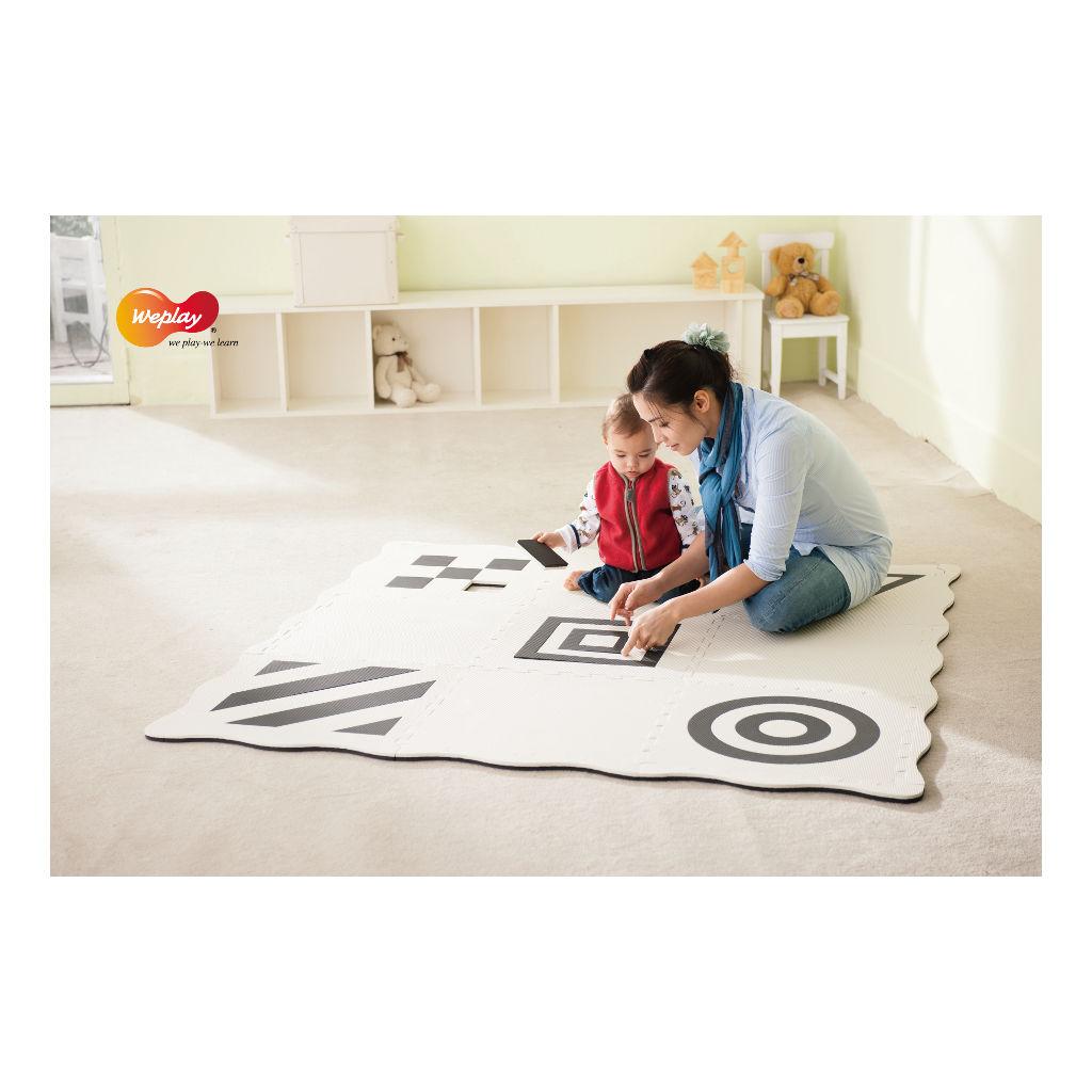 Creatief Speelmat 9-Delig Zwart Wit Weplay Hal Babyhoek Ondergrond Wepl-Kc1101-0Kw