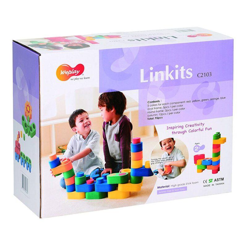Linkits Bouwstenen 95 Stuks Weplay Doos Verpakking wepl-kc2803