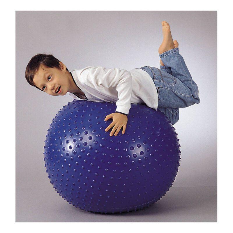 Massage Therapie Bal 75 Cm Weplay Gymen Blauw Pinnetjes Wepl-Kb0306