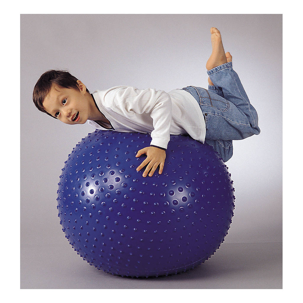 Massage Therapie Bal 75 Cm Weplay Gymen Blauw Pinnetjes Wepl-Kb0306