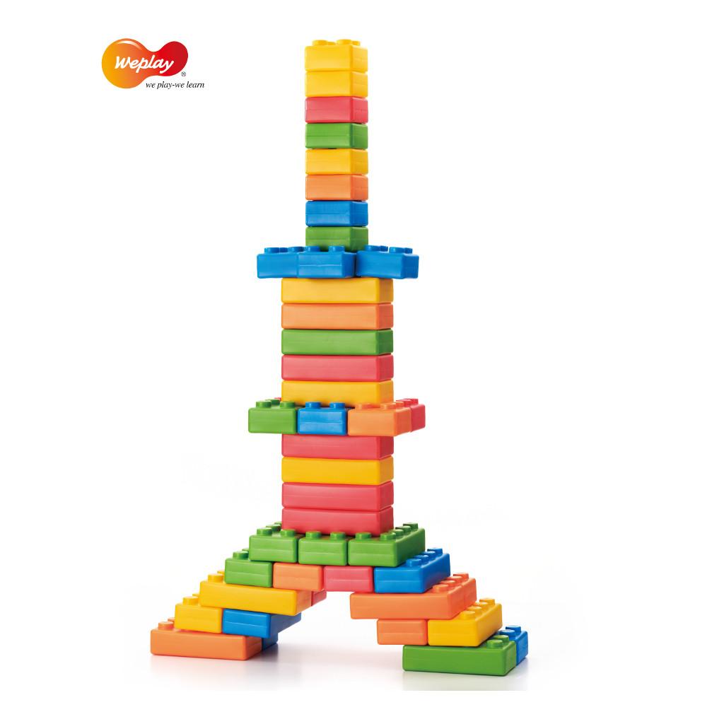 Noppen Bouwstenen 45 Stuks Weplay Toren Veilig Wepl-Kc0002.1