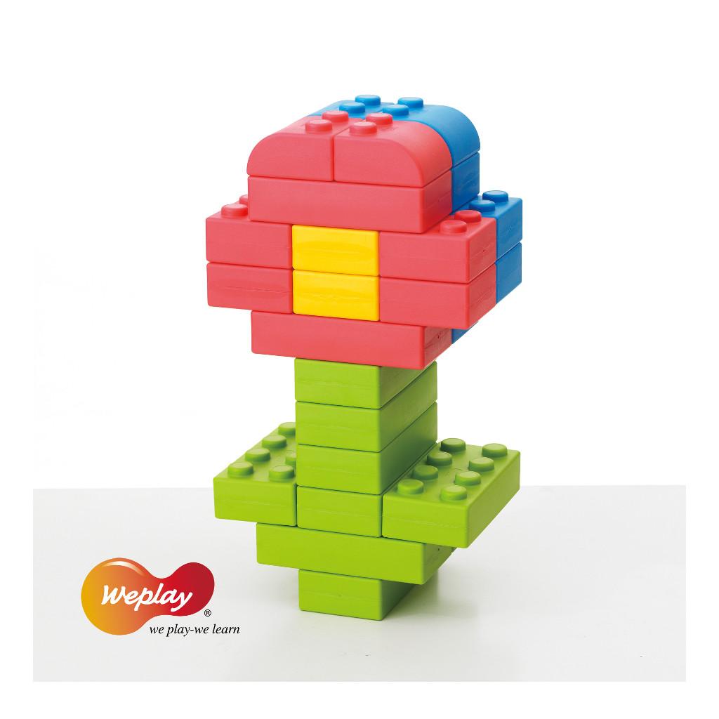 Q-Blokken 64 Stuks Met Opbergtas Weplay Bouwen Creatief Wepl-Kc0004-065