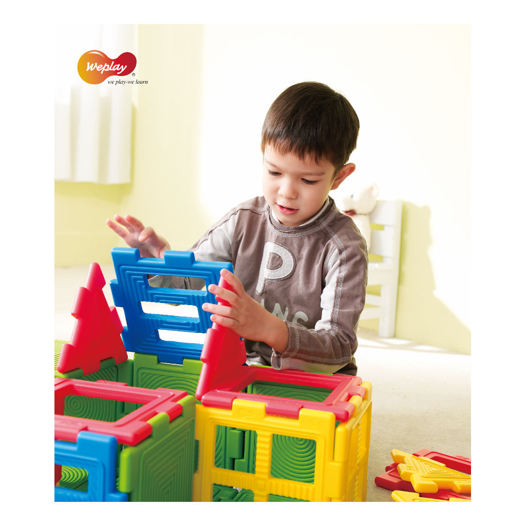 We-Blocks Mini 56 Stuks Weplay Kubus Bouwen Wepl-Kc3002