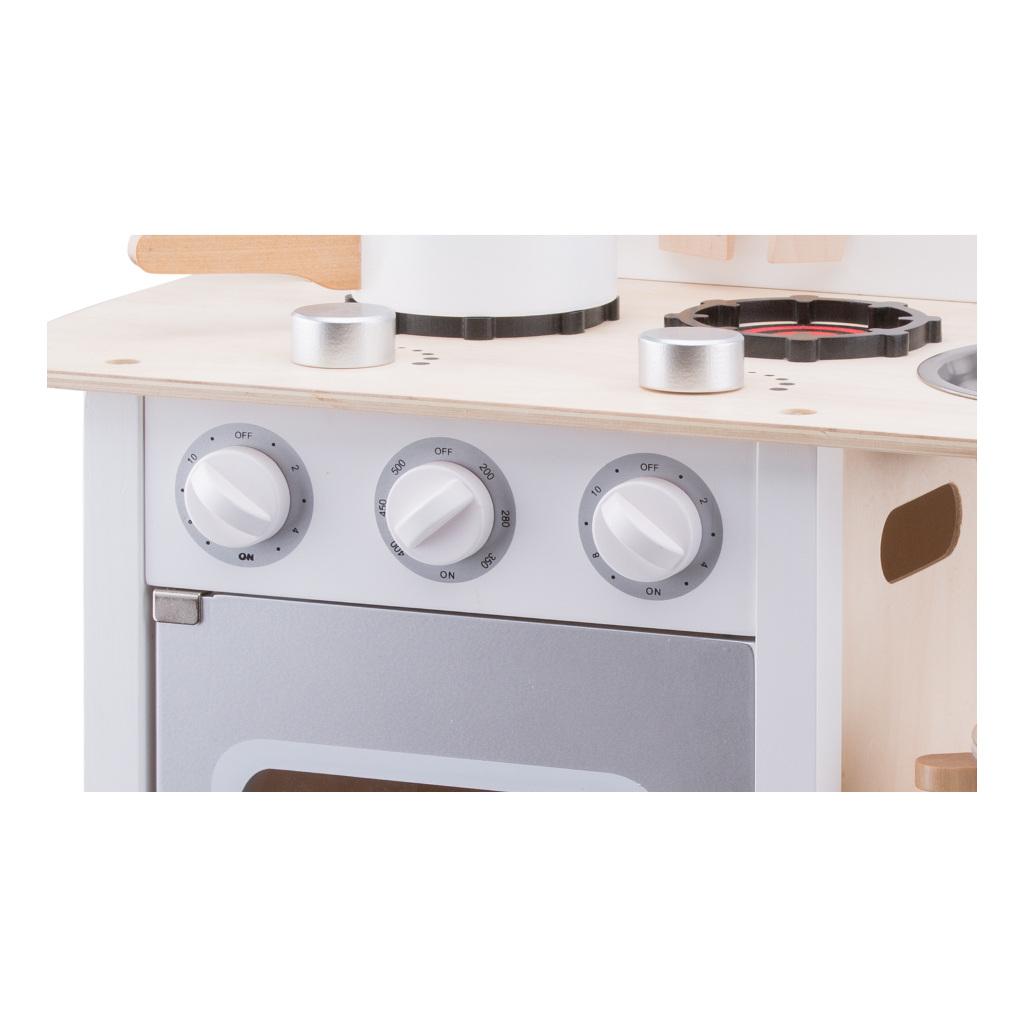 Bon Appetit Wit Zilver New Classic Toys Hout Kookplaat Newc-11053