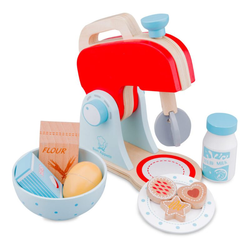 Mixer Set New Classic Toys Rood Blauw Hout Newc-10702