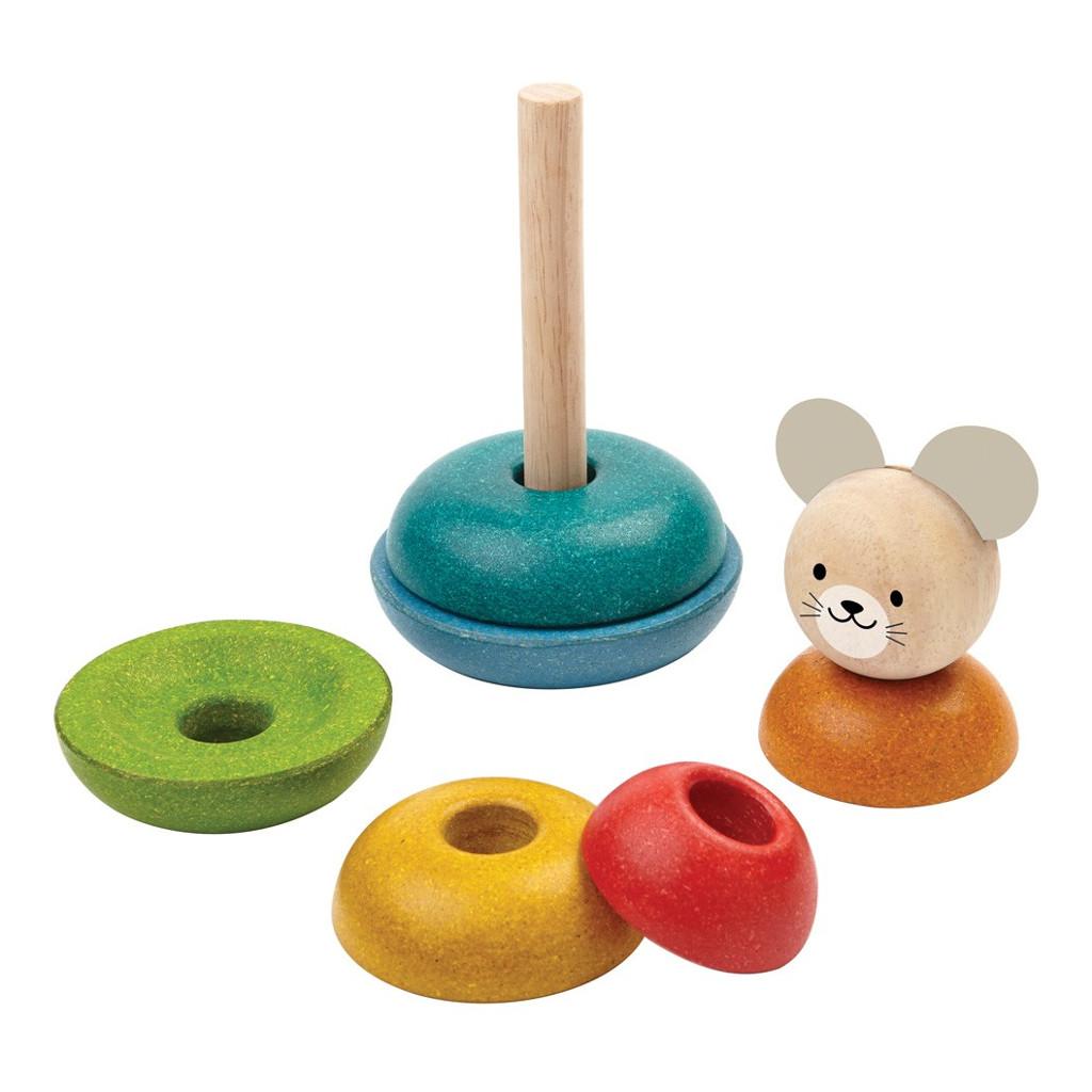 Stapel Ringen Peuter Rubberwood Plan Toys Plan-4005681