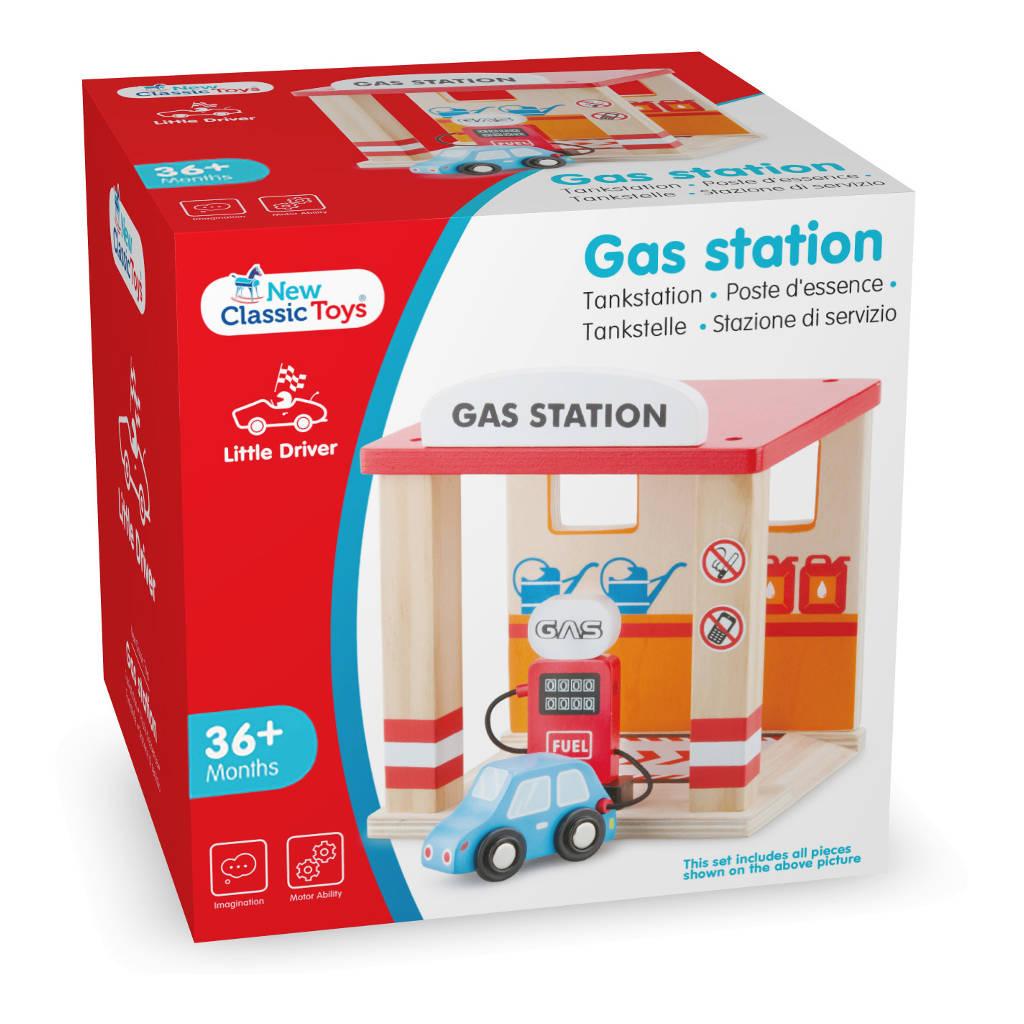 Tankstation New Classic Toys Hout Doos Verpakking Newc-11042