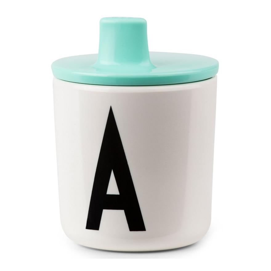Tuitdeksel Turquoise Melamine Design Letters Combineren Oefenen Groen Lek Tuit Desi-20202300Turquo