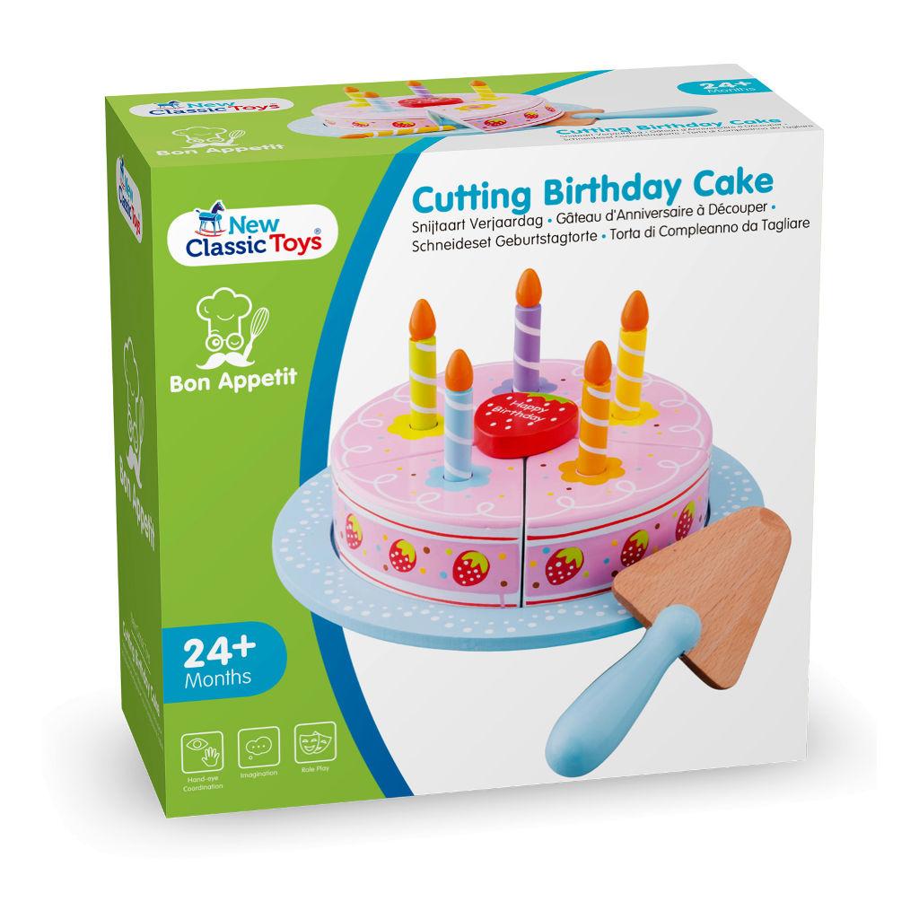 Verjaardag Snijtaart New Classic Toys Doos Verpakking Hout Newc-10628