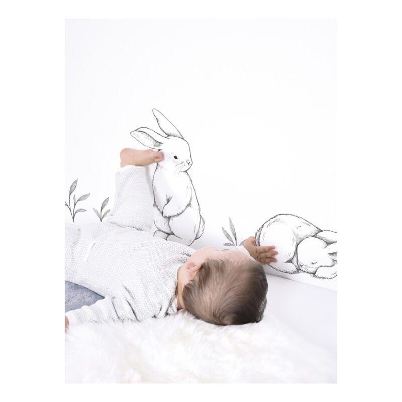 3 Bunnies Muursticker A3 | Bunny | Lilipinso