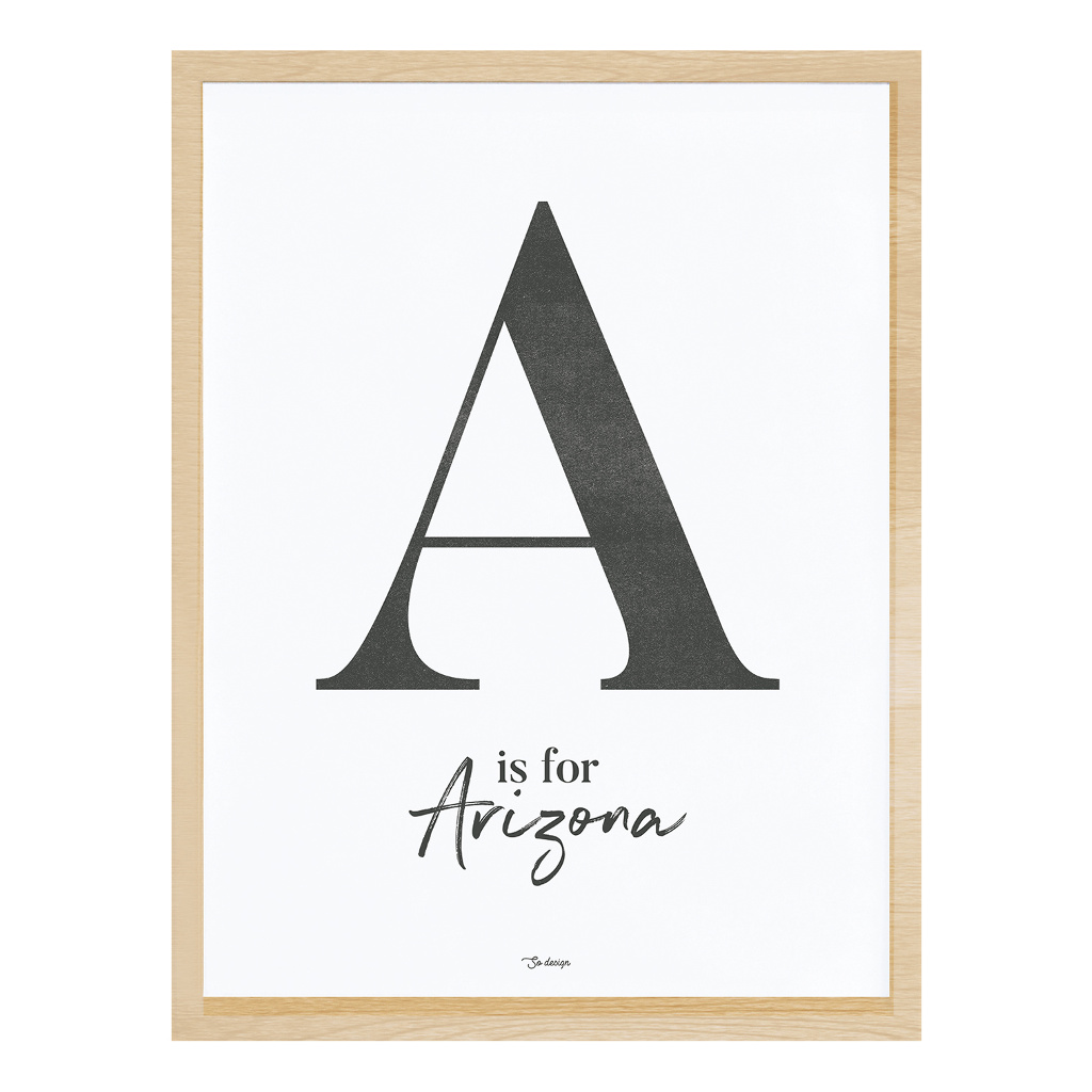 A For Arizona Poster Met Lijst Wild West Lilipinso lili-p0268