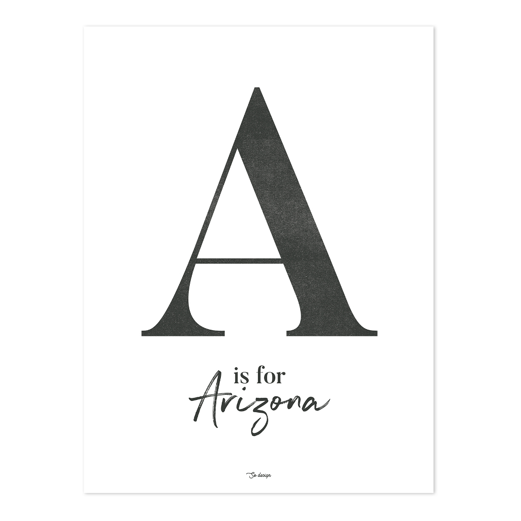 A For Arizona Poster | Wild West | Lilipinso