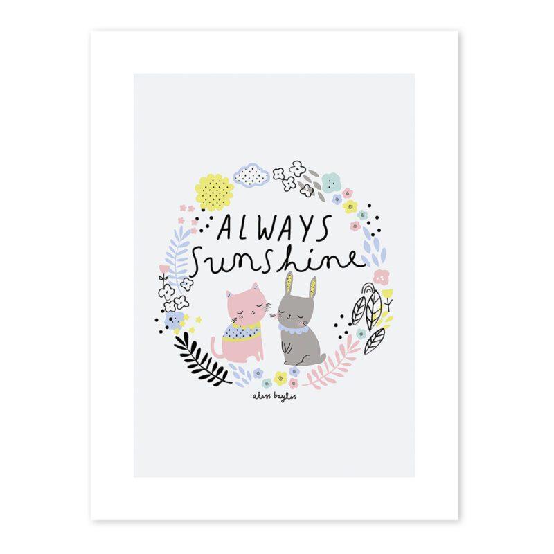 Always Sunshine Poster Happy Clouds Lilipinso Lili-P0198 1024X1024