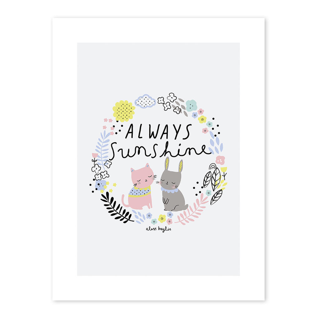 Always Sunshine Poster Happy Clouds Lilipinso Lili-P0198 1024X1024