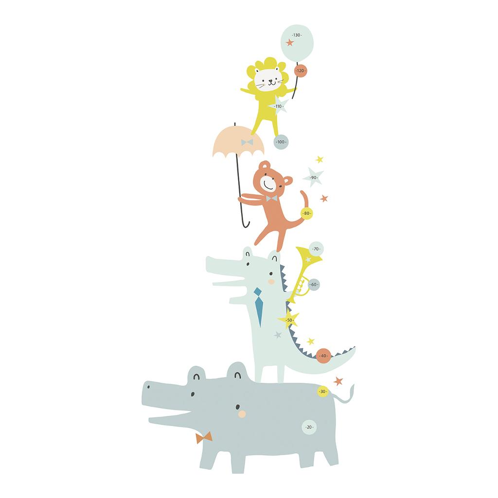 Animals Party Groeimeter Sticker Lilipinso Vrolijke Dieren Circus Lili-S1079