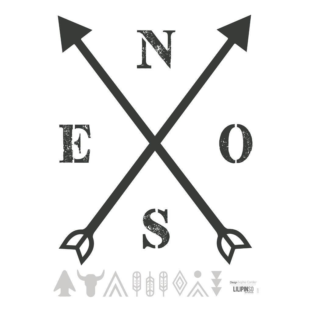 Arrow Nseo Sticker 18X24Cm | Wild West | Lilipinso