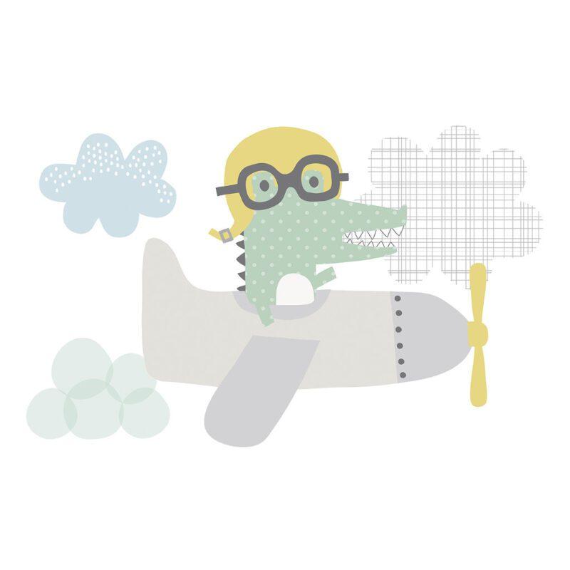 Aviator Sticker Xl Smile, It'S Raining Lilipinso Pastel Wolken Propeller Lili-S1063