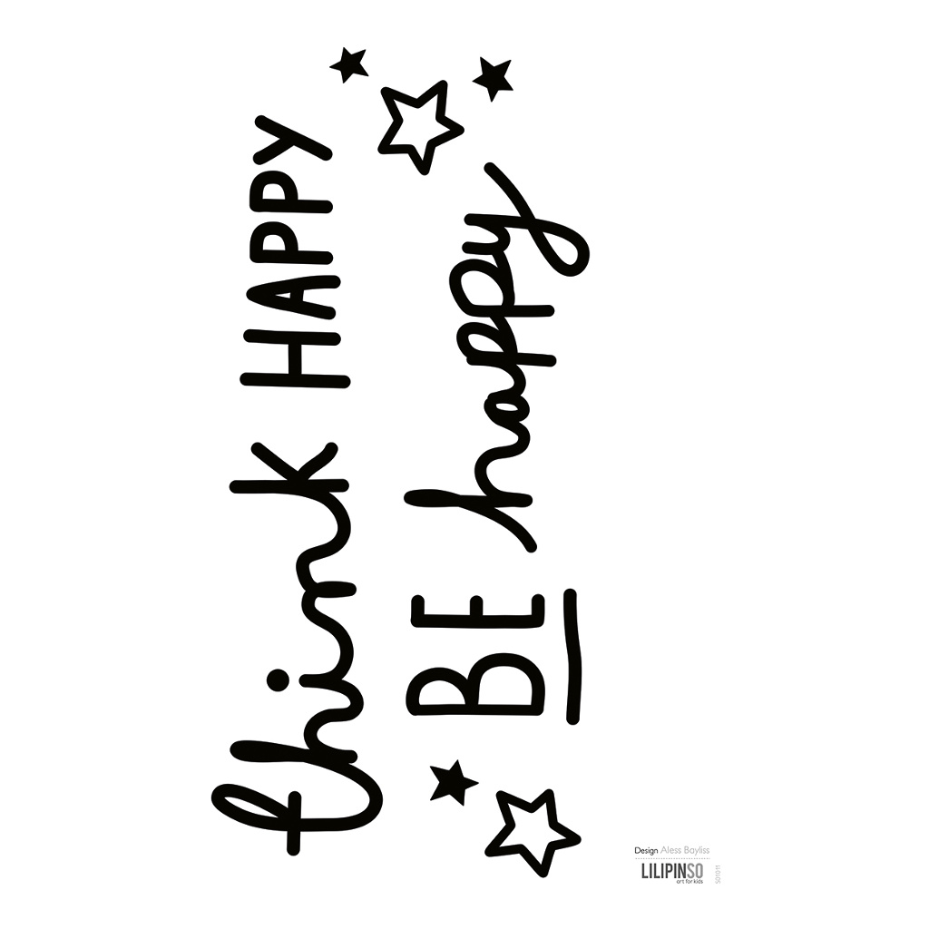 Be Happy Sticker 18X24Cm Wonderful Words Lilipinso Mooie Woorden Lili-S1011
