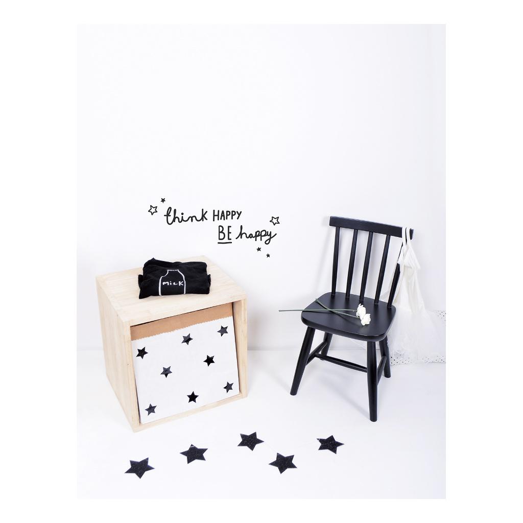 Be Happy Sticker 18X24Cm Wonderful Words Lilipinso Wees Blij Zwart Wit Lili-S1011