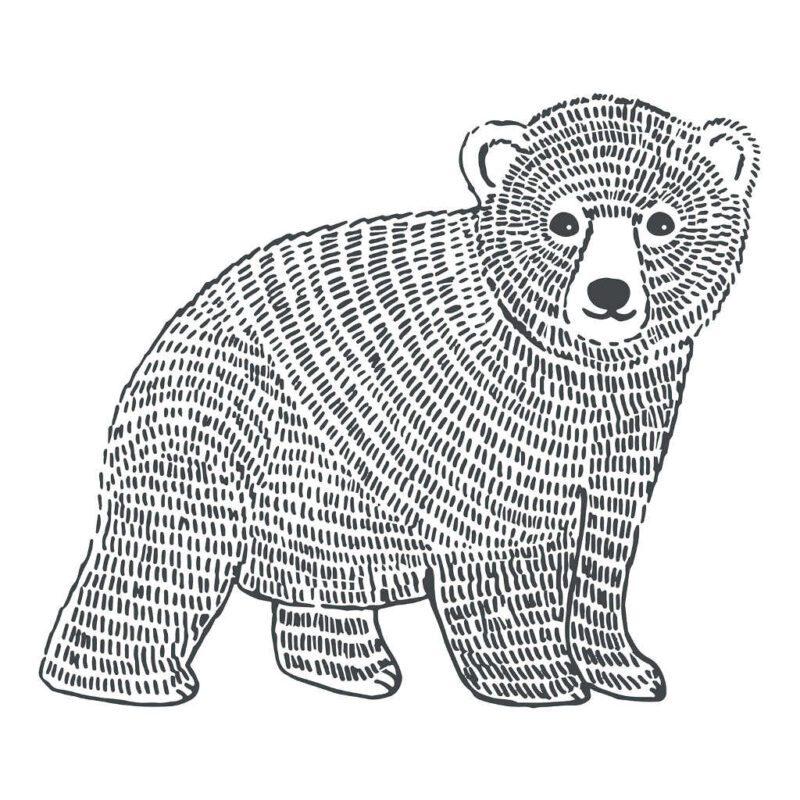 Bear Sticker Xl   Enchanted   Lilipinso
