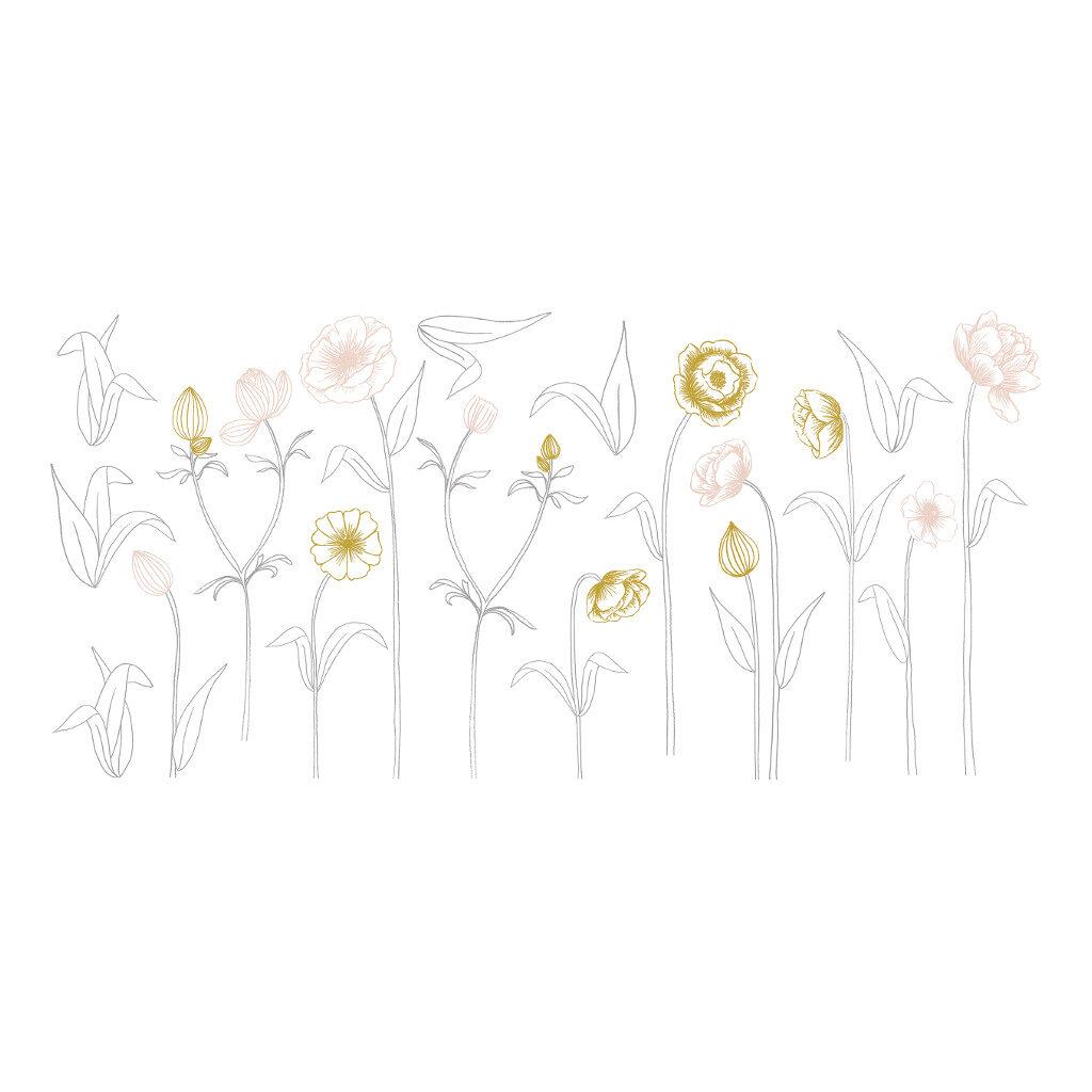 Big Flowers On Stem Sticker Xl | Botany | Lilipinso