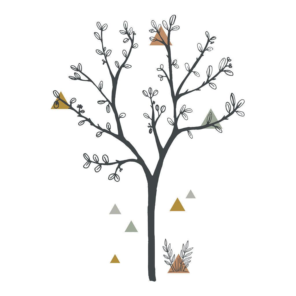 Big Tree & Triangles Sticker Xl | Enchanted | Lilipinso
