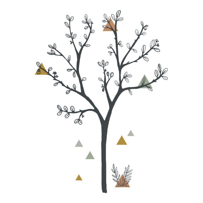 Big Tree & Triangles Sticker Xl   Enchanted   Lilipinso