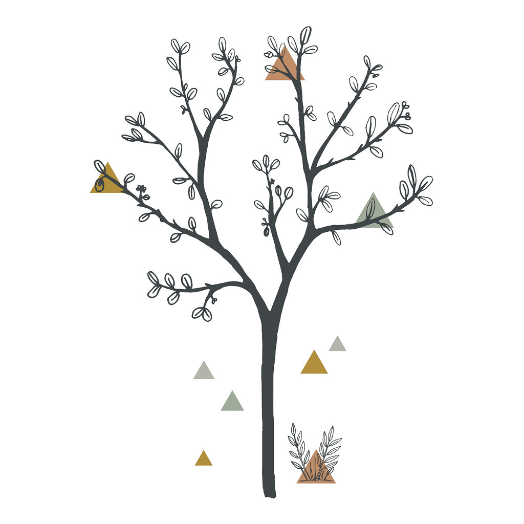 Big Tree & Triangles Sticker Xl | Enchanted | Lilipinso