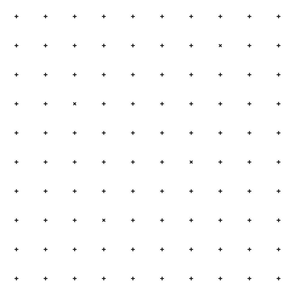 Black Crosses On Background White Behang   Millimétré   Lilipinso