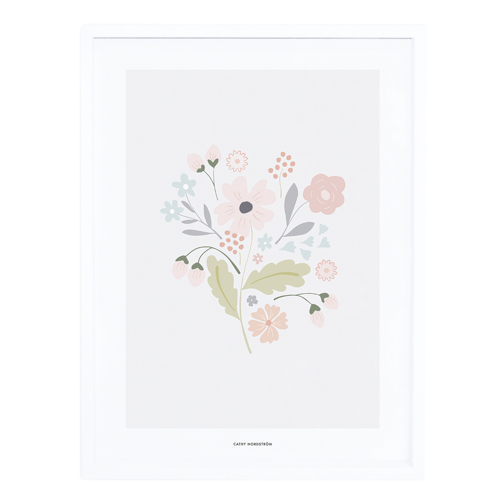 Bouquet With Stems Poster Met Lijst Bloom Lilipinso lili-p0259