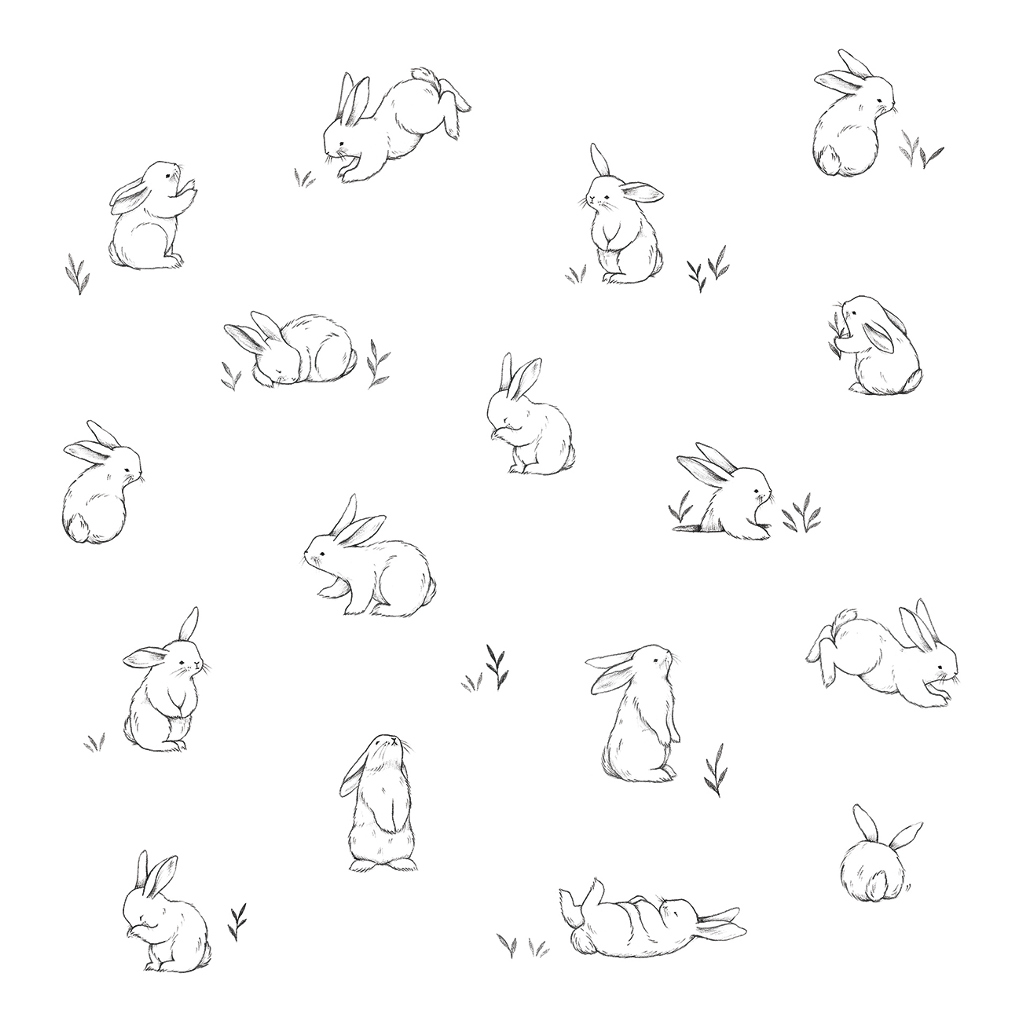 Bunnies In The Country Behang | Bunny | Lilipinso