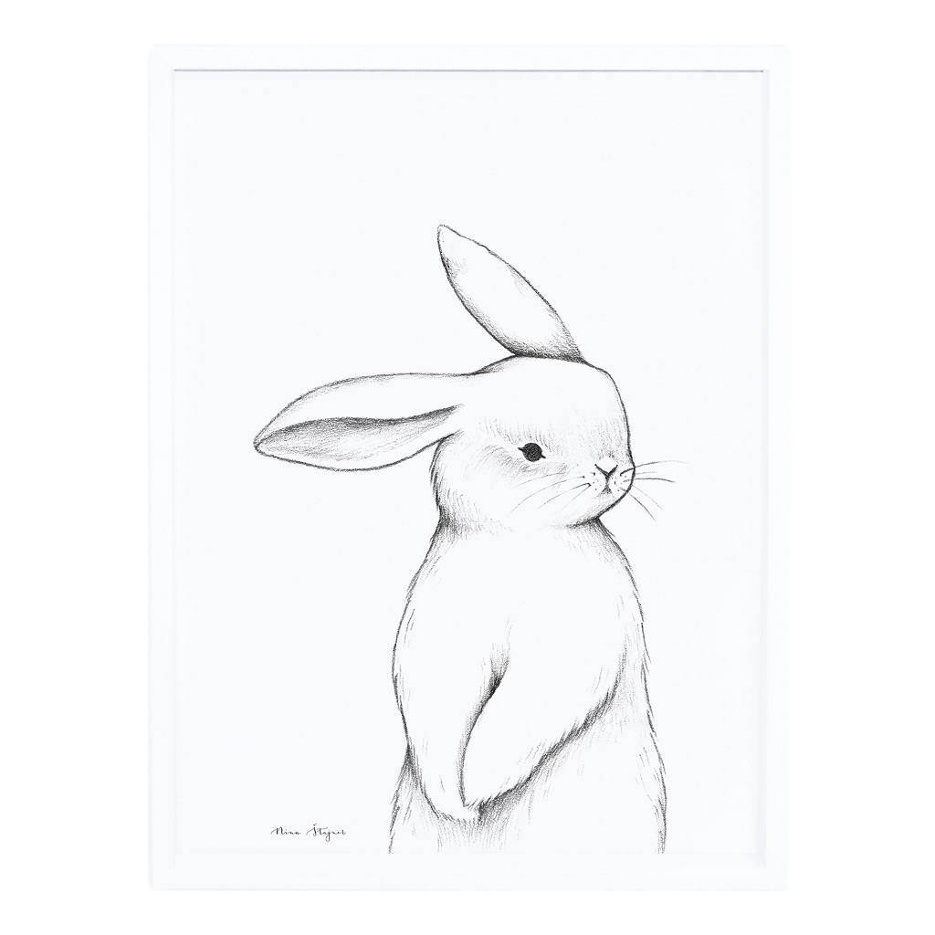 Bunny Front View Poster Met Lijst Lilipinso lili-p0253