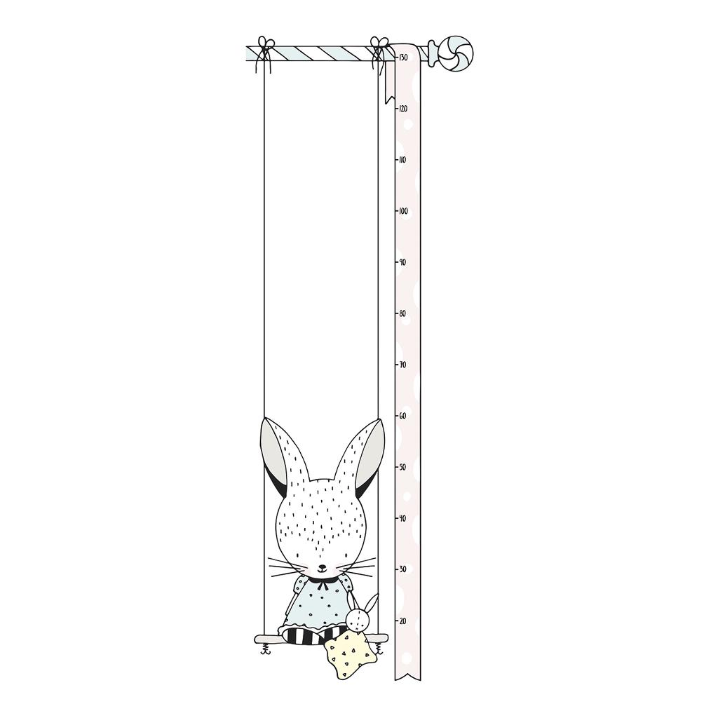 Bunny Groeimeter Sticker | Retro Bubble | Lilipinso
