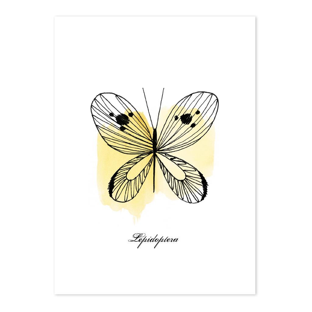 Butterflies Ansichtkaart Set Meadow Treasure Lilipinso Vlinder Geel Lili-P0218