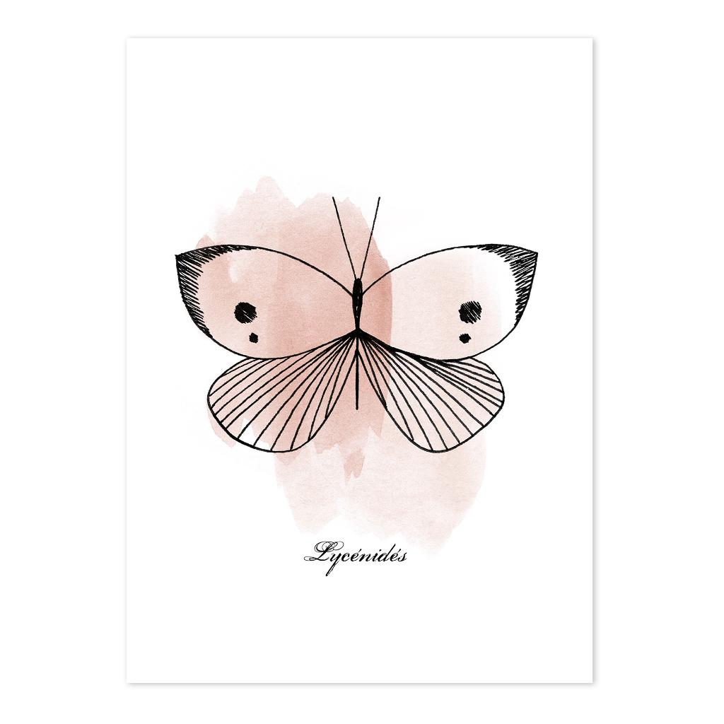 Butterflies Ansichtkaart Set Meadow Treasure Lilipinso Vlinder Roze Lili-P0218