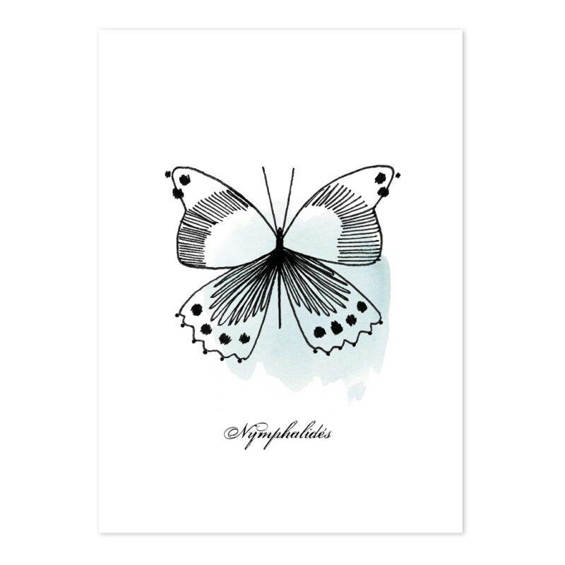 Butterflies Ansichtkaart Set Meadow Treasure Lilipinso Vlinder Turquoise Lili-P0218