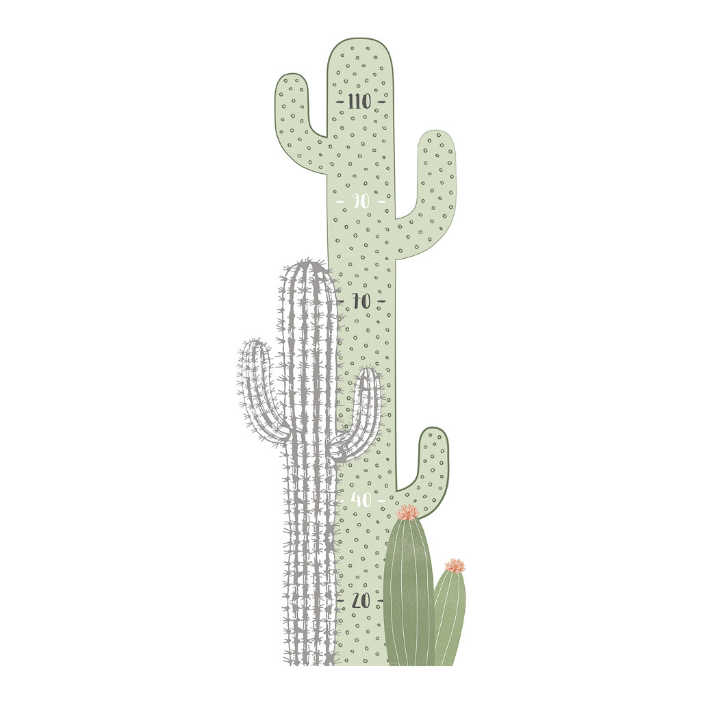 Cactus Groeimeter Sticker | Wild West | Lilipinso
