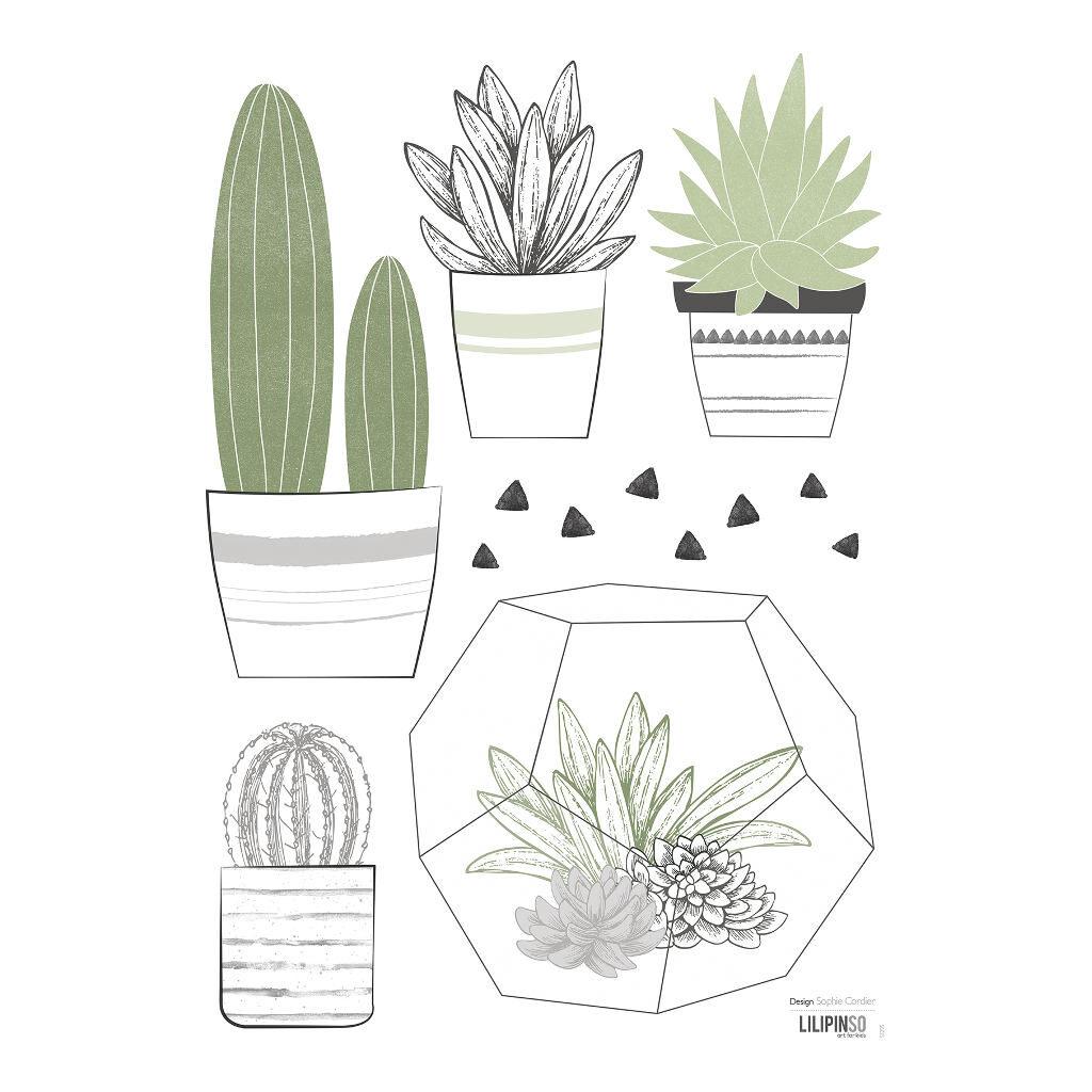 Cactus Muursticker A3 | Wild West | Lilipinso