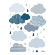 Clouds & Drops Sticker 18X24Cm   Wild Islands   Lilipinso