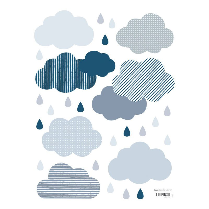 Clouds & Drops Sticker 18X24Cm | Wild Islands | Lilipinso