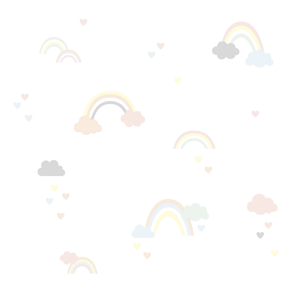 Clouds & Rainbows Behang | Hello Little | Lilipinso