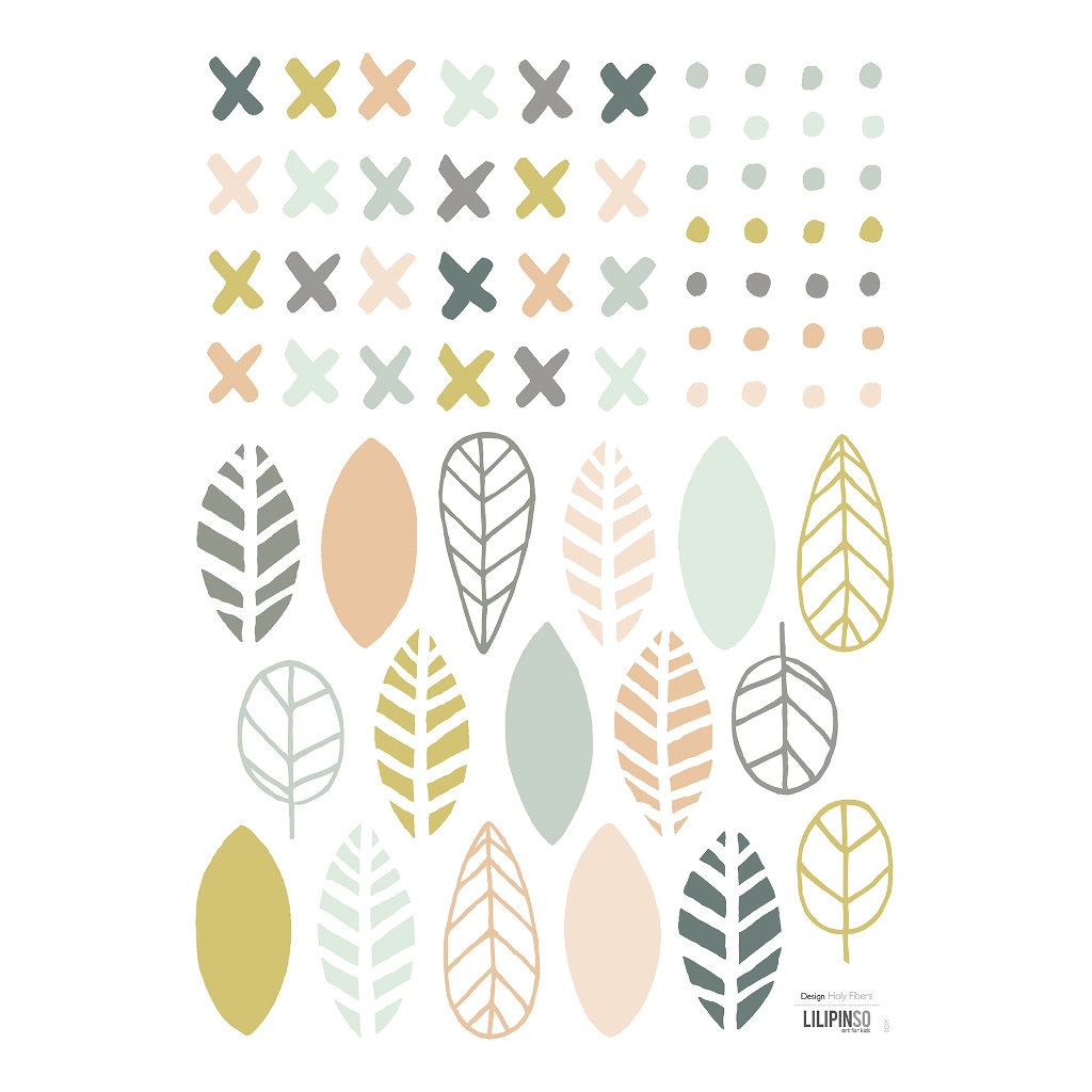 Crosses & Leaves Muursticker A3 | Australia | Lilipinso