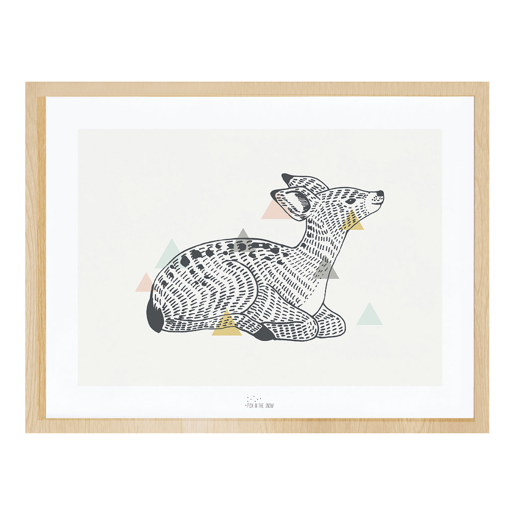 Deer Poster Met Lijst Enchanted Lilipinso lili-p0261