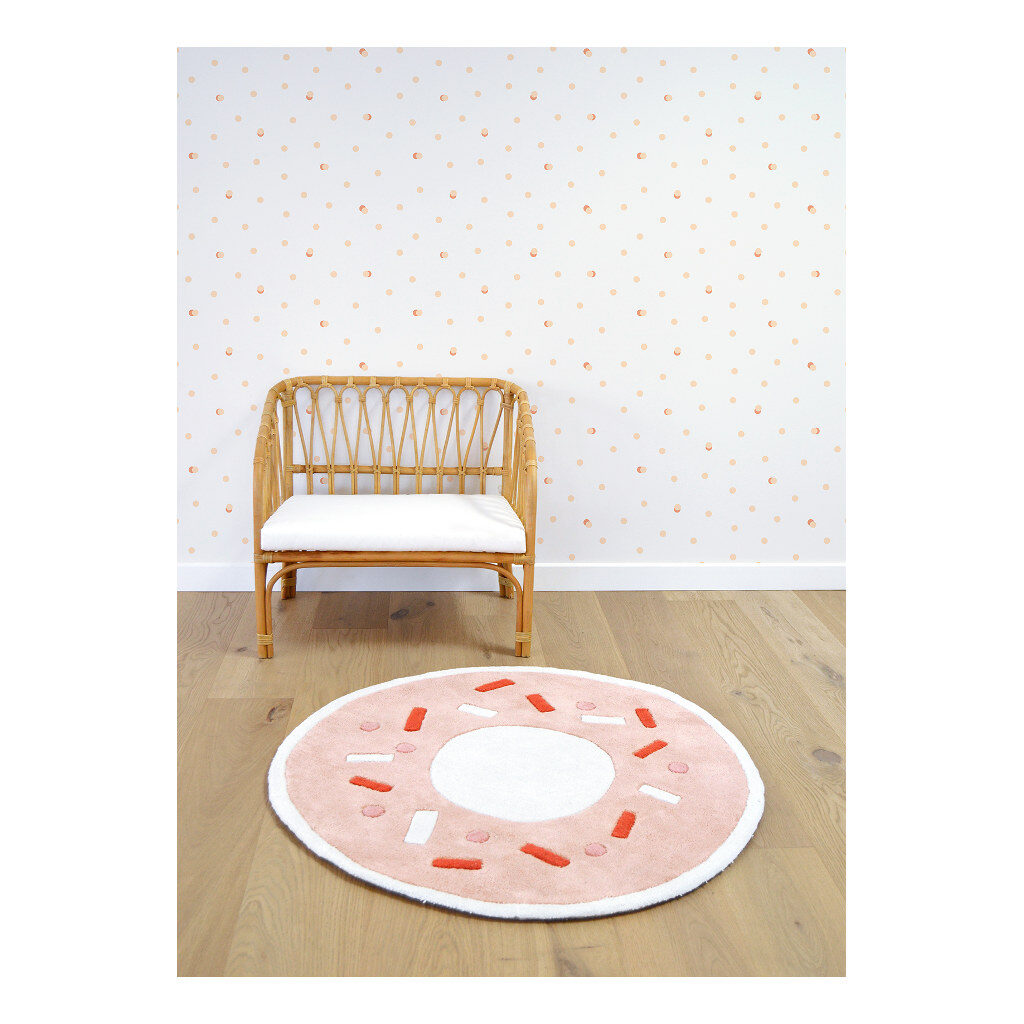 Donut Light Orange Vloerkleed Animals Party Lilipinso Lili-H0294