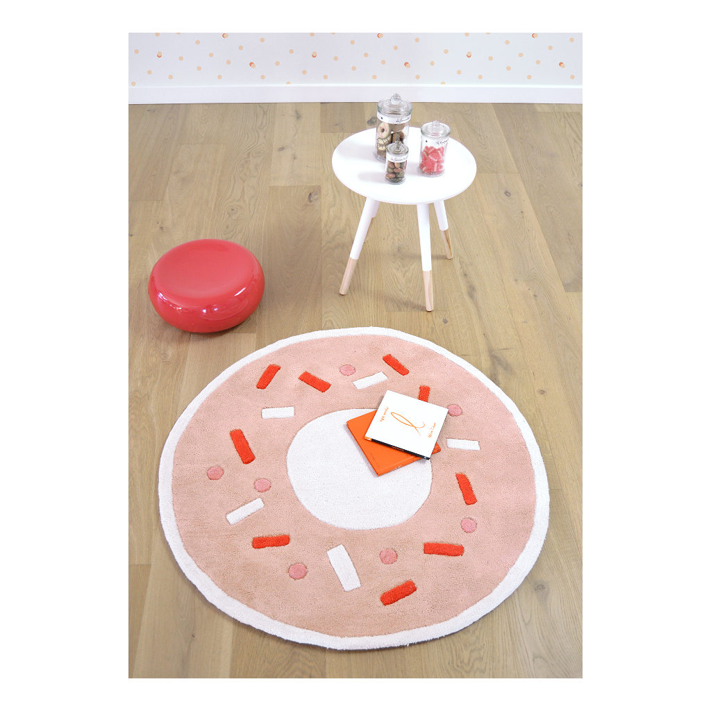 Donut Light Orange Vloerkleed Animals Party Lilipinso Streepjes Rondjes Lili-H0294