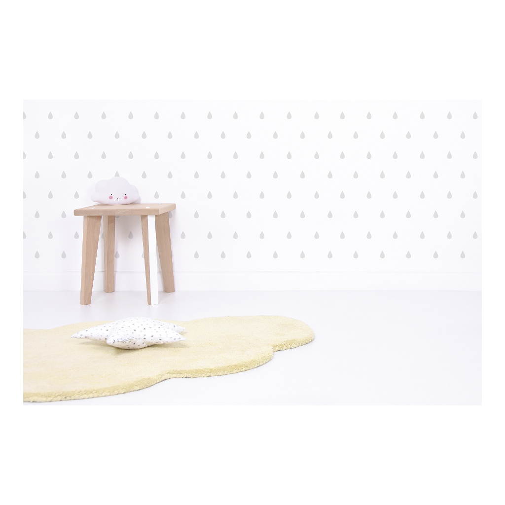 Drops Grey Sticker 18X24Cm | Hello Little | Lilipinso