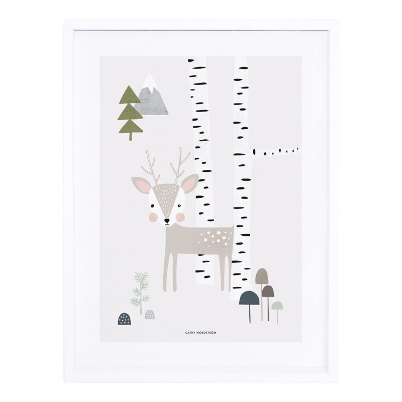 Fawn Poster Into The Woods Lilipinso Met Lijst QIDDIE.com lili-P0206C